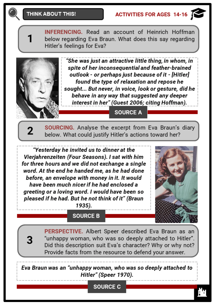 Eva Braun Student Activities & Answer Guide 3