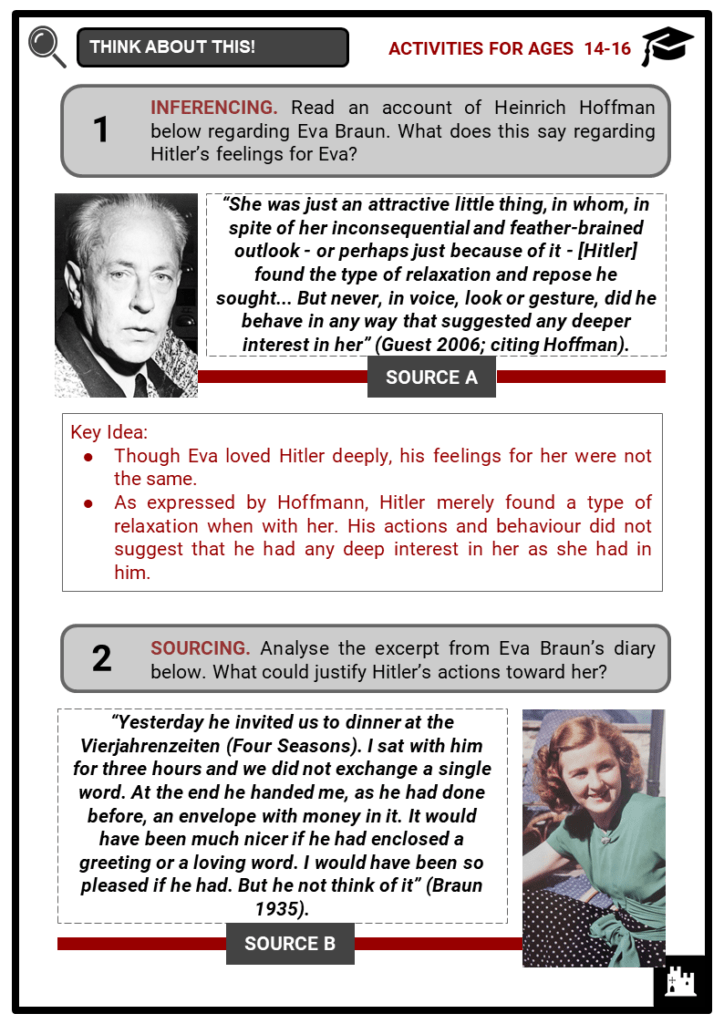 Eva Braun Student Activities & Answer Guide 4