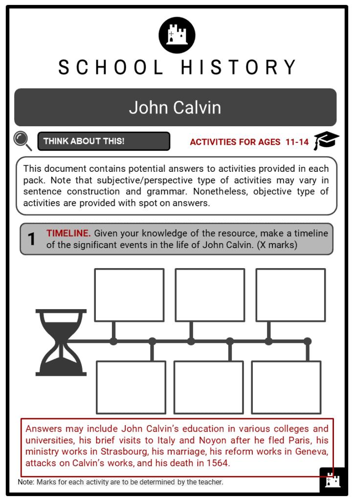 John Calvin Student Activities & Answer Guide 2