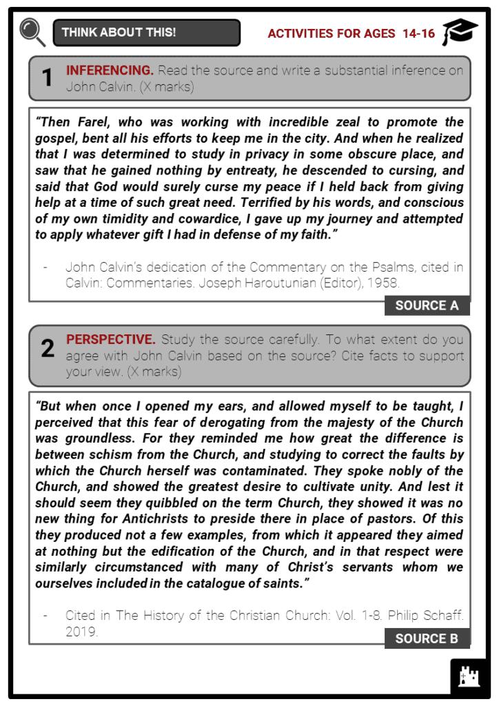 John Calvin Student Activities & Answer Guide 3