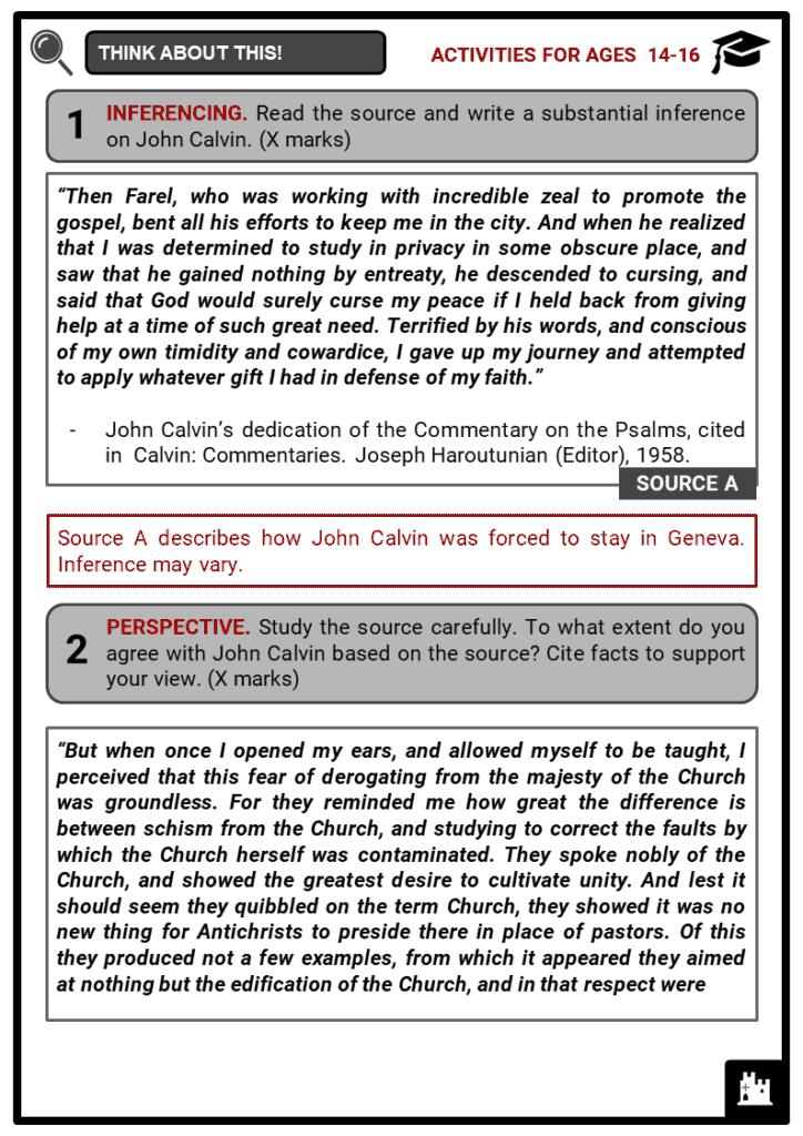 John Calvin Student Activities & Answer Guide 4