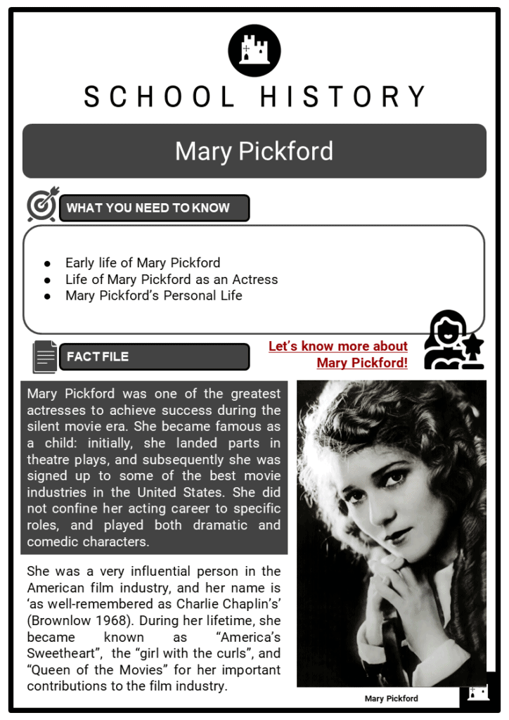 Mary Pickford Resource Collection 1