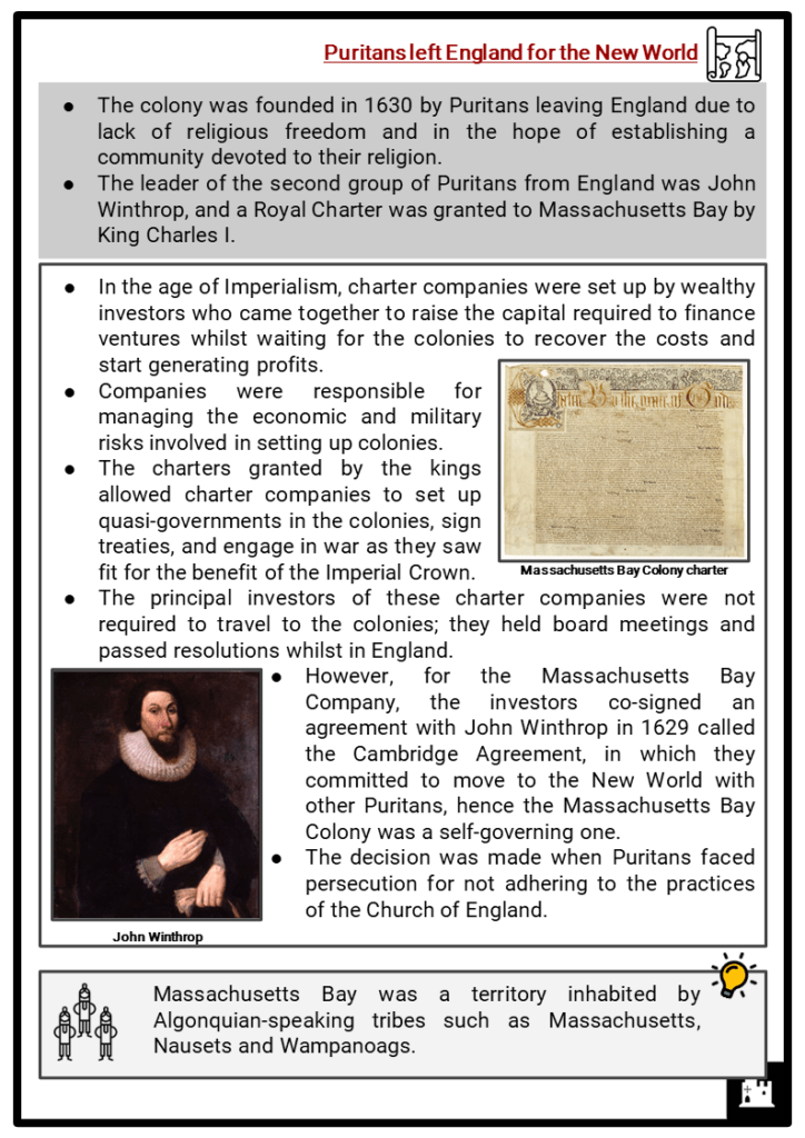 Massachusetts Bay Colony Resource Collection 2