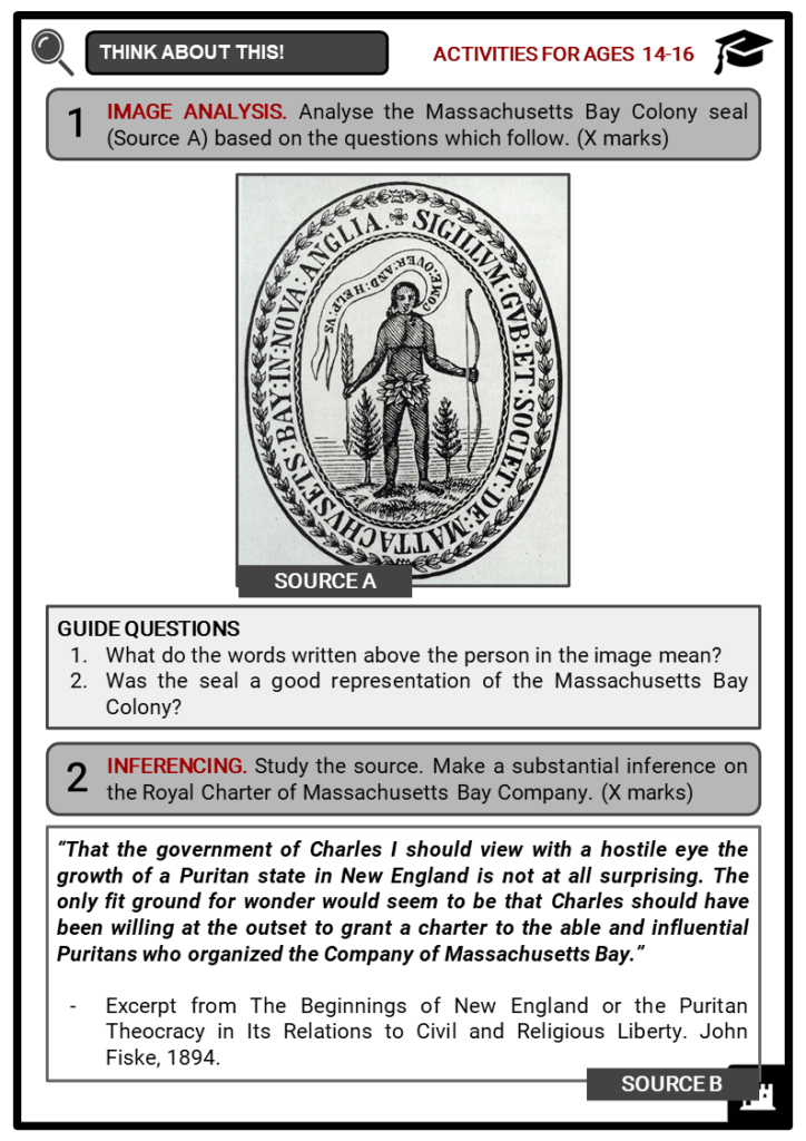 Massachusetts Bay Colony Student Activities & Answer Guide 3