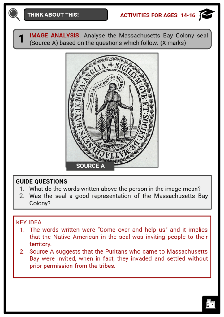 Massachusetts Bay Colony Student Activities & Answer Guide 4