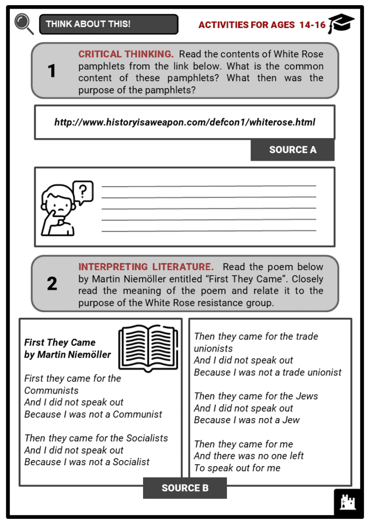 Sophie Scholl Student Activities & Answer Guide 3