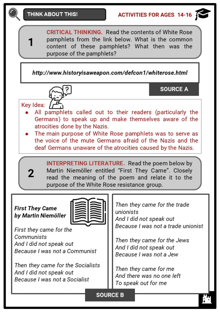 Sophie Scholl Student Activities & Answer Guide 4