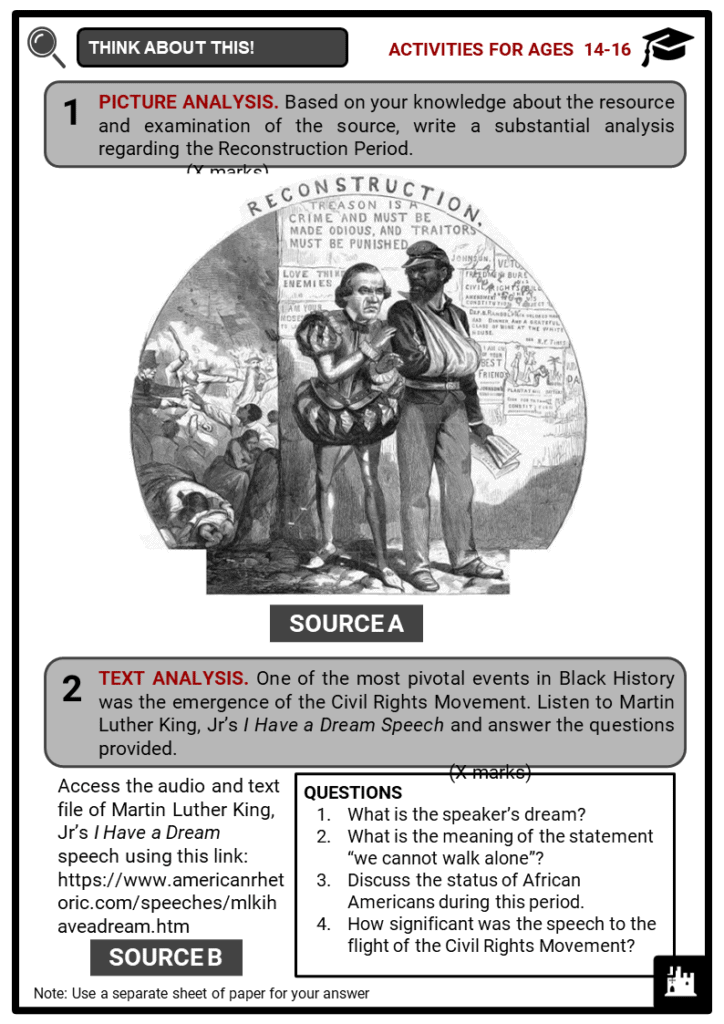 Black History Student Activities & Answer Guide 3