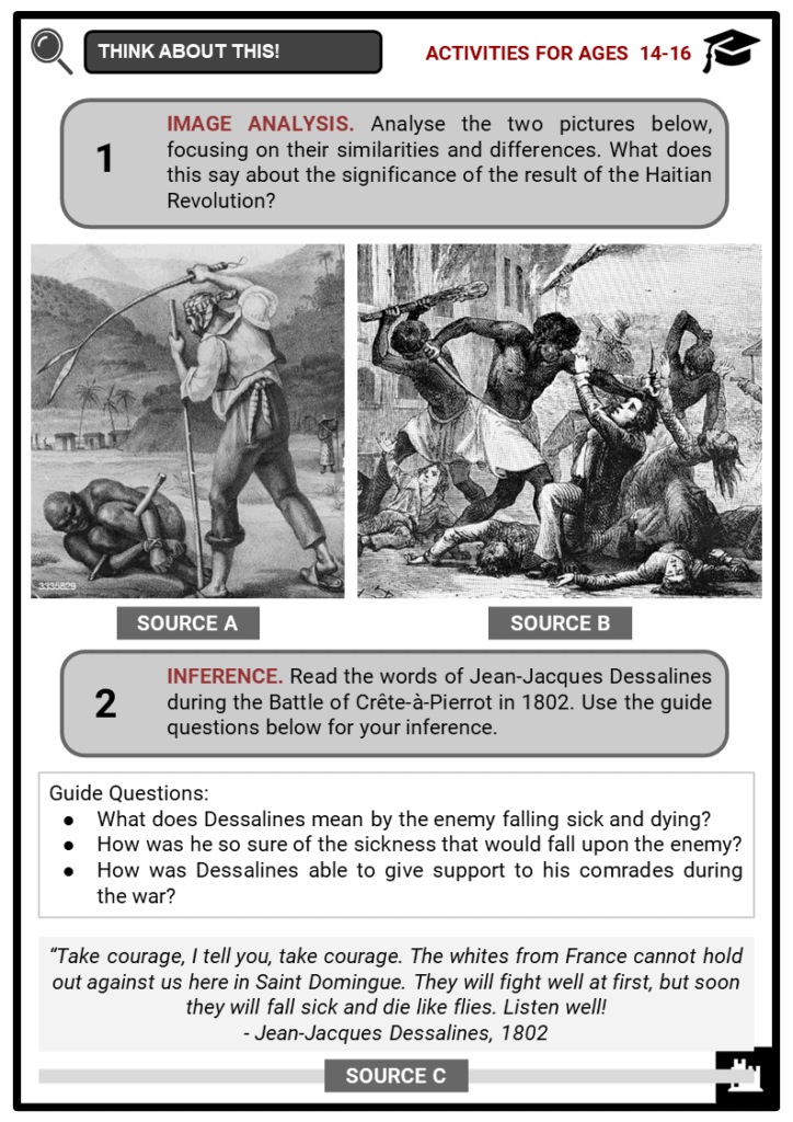 Haitian Revolution Student Activities & Answer Guide 3