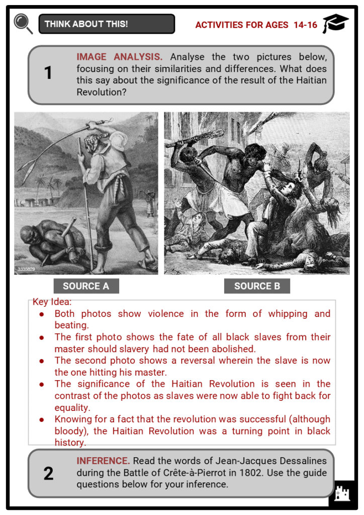 Haitian Revolution Student Activities & Answer Guide 4