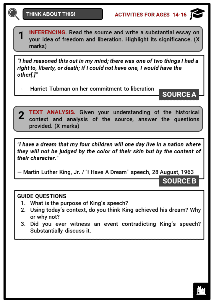 Influential African Americans Student Activities & Answer Guide 3