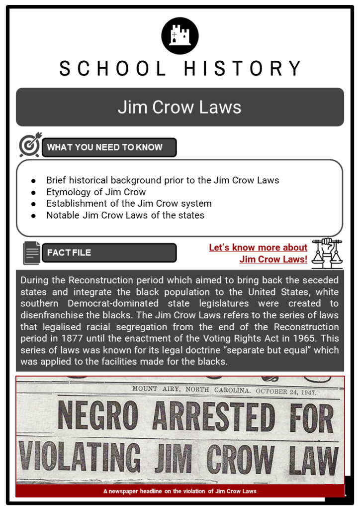 Jim Crow Laws Resource Collection 1