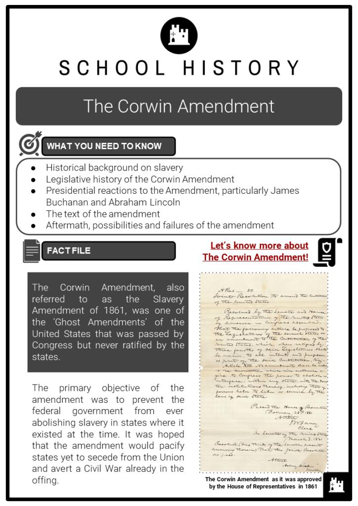 The Corwin Amendment Resource Collection 1