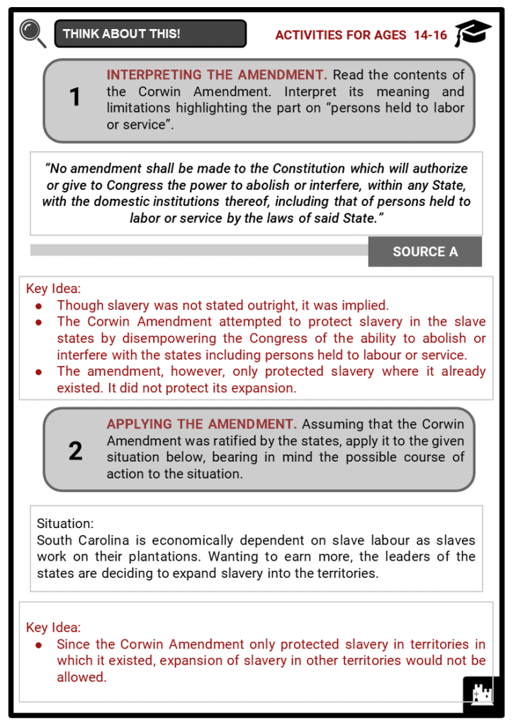 The Corwin Amendment Student Activities & Answer Guide 4