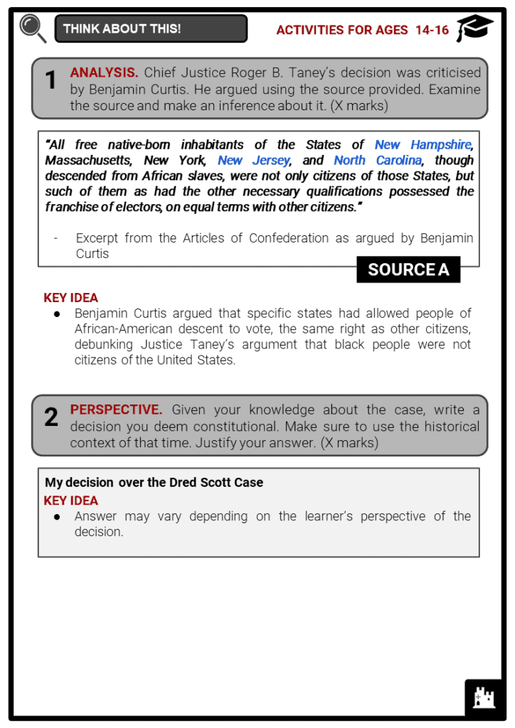 The Dred Scott Decision Student Activities & Answer Guide 4