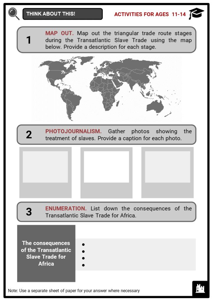 Transatlantic Slave Trade Student Activities & Answer Guide 1