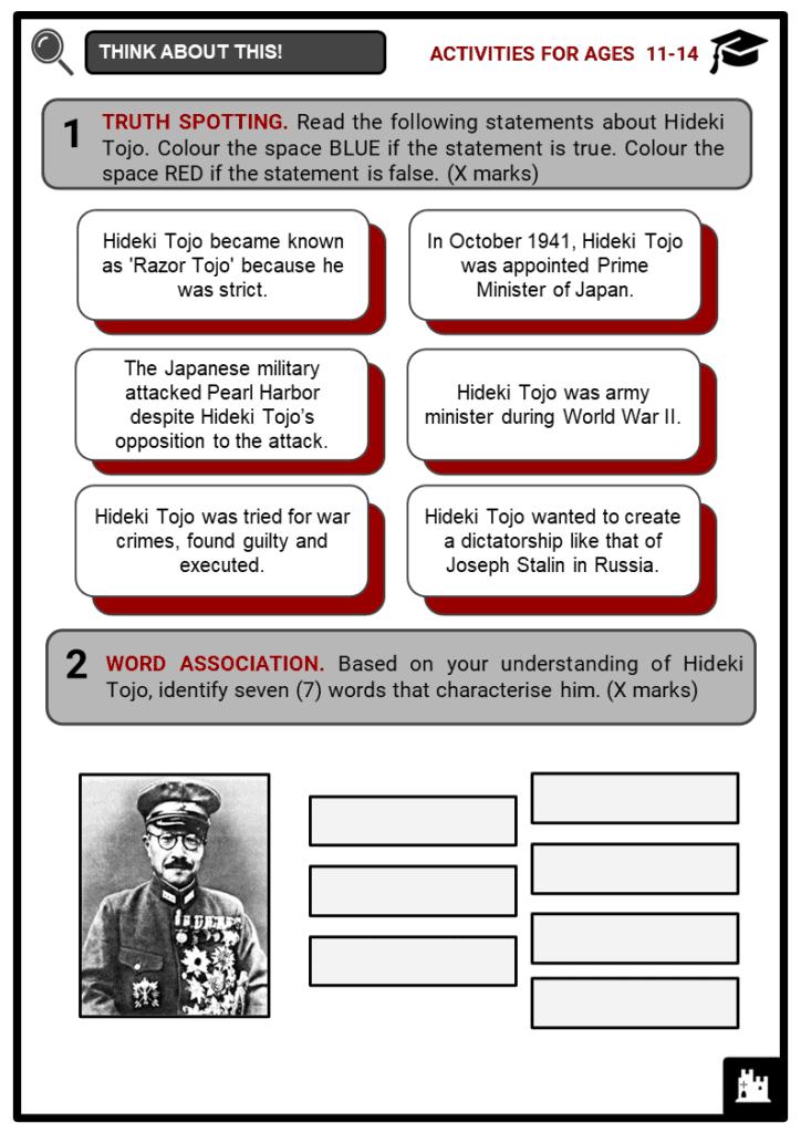 Hideki Tojo Student Activities & Answer Guide 1