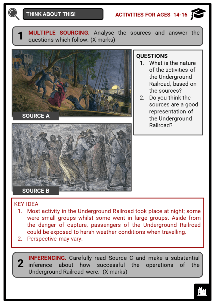 Underground Railroad Student Activities & Answer Guide 4