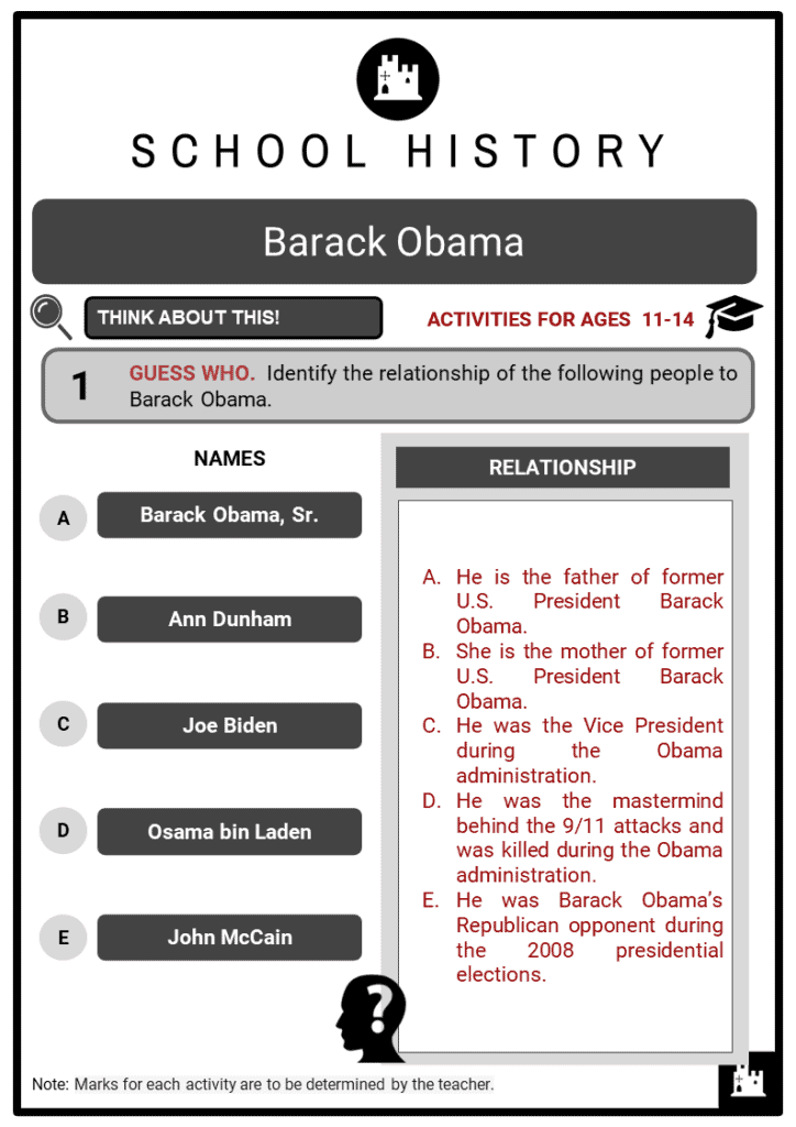 Barack Obama Student Activities & Answer Guide 2
