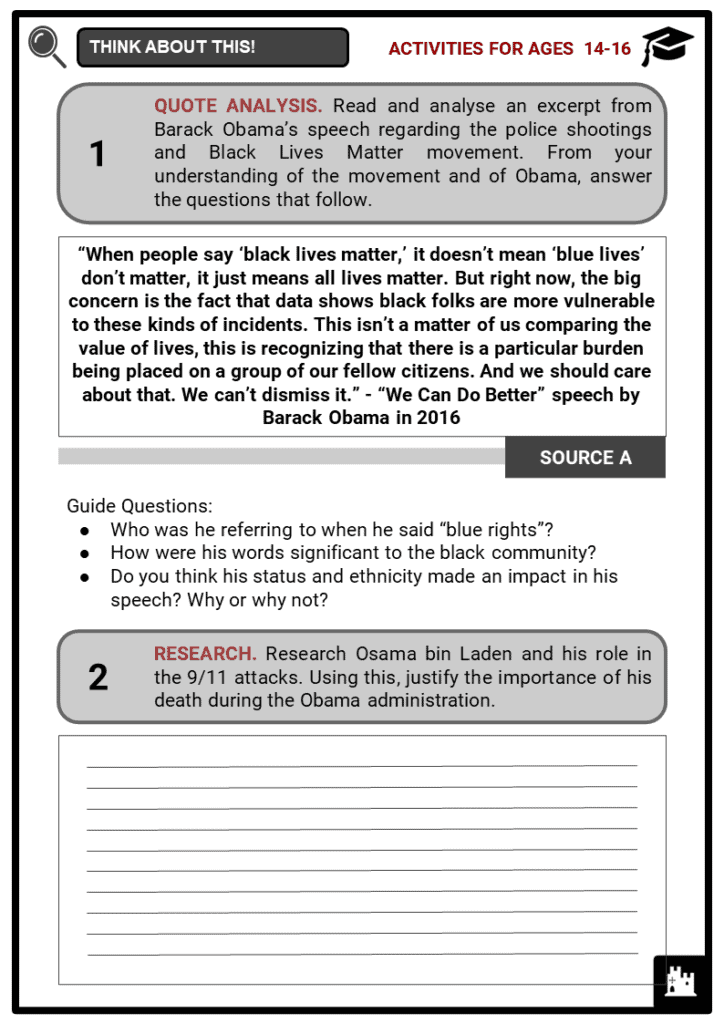 Barack Obama Student Activities & Answer Guide 3