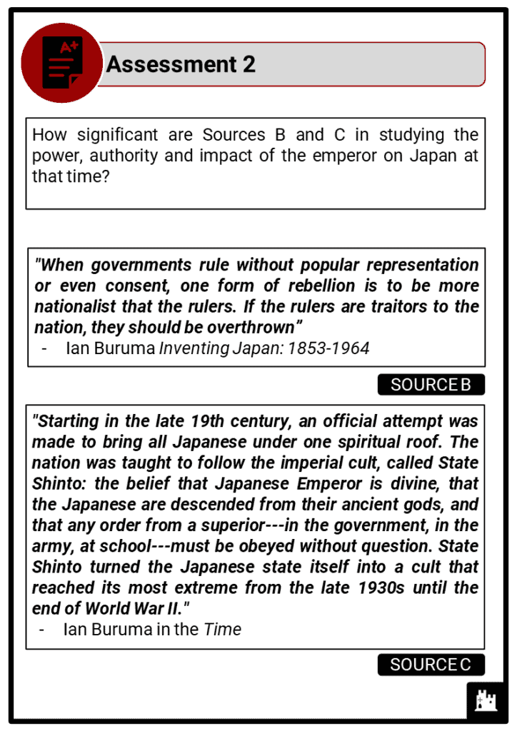 A Level The growth of nationalism in Japan 1920-1937 Assessment 2