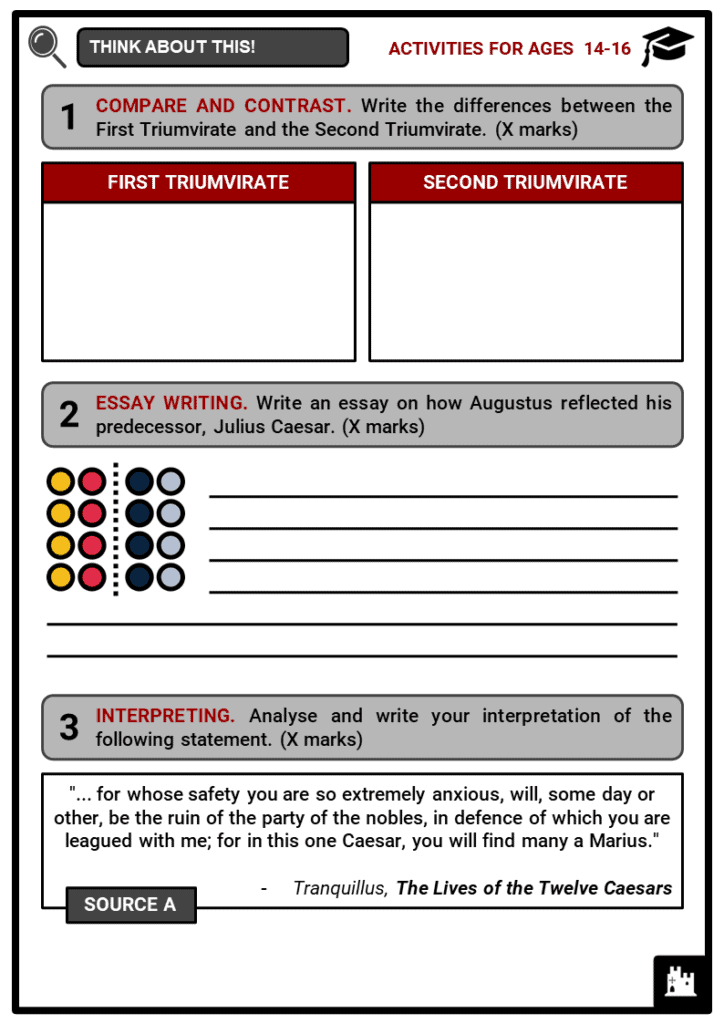 Ancient Rome Timeline Student Activities & Answer Guide 3