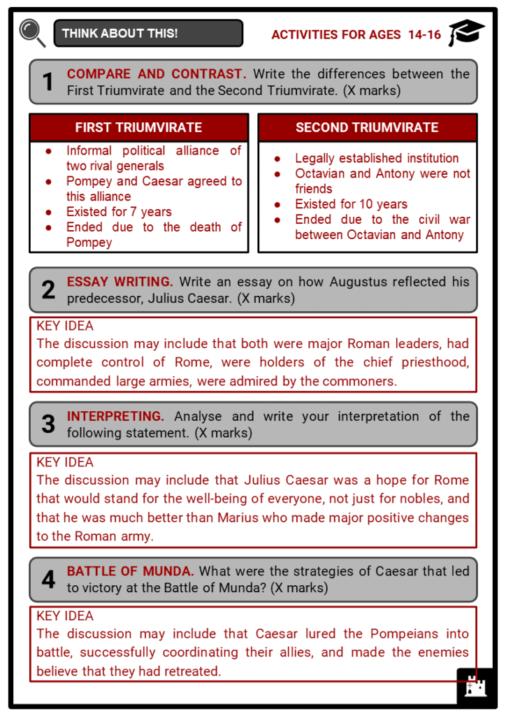 Ancient Rome Timeline Student Activities & Answer Guide 4