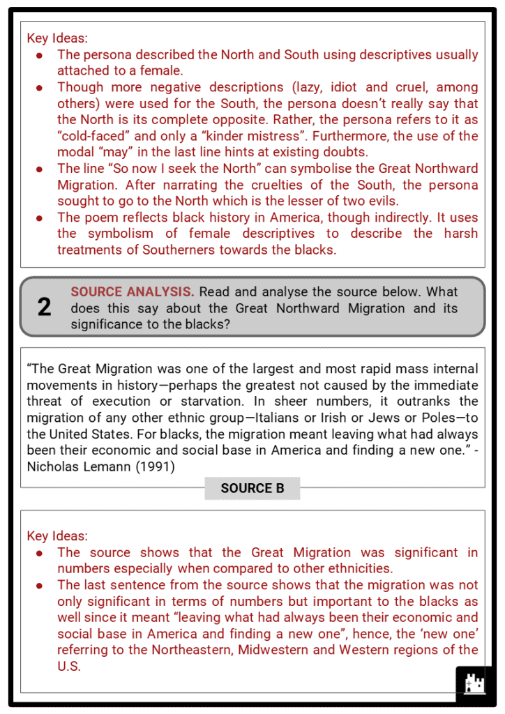 Great Northward Migration Student Activities & Answer Guide 4