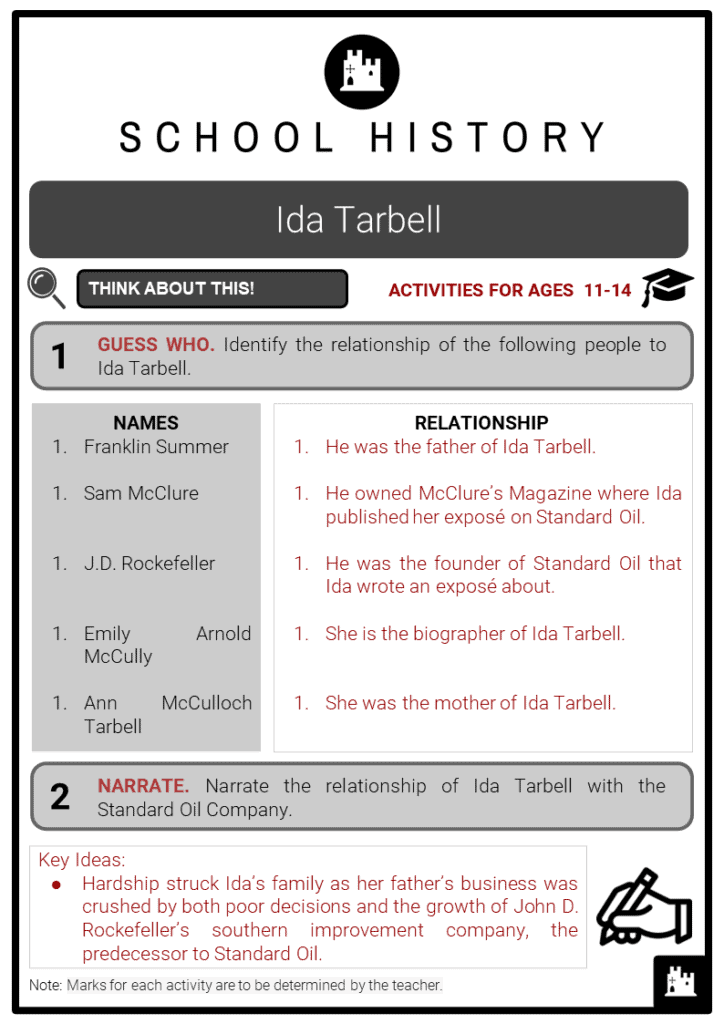 Ida Tarbell Student Activities & Answer Guide 2