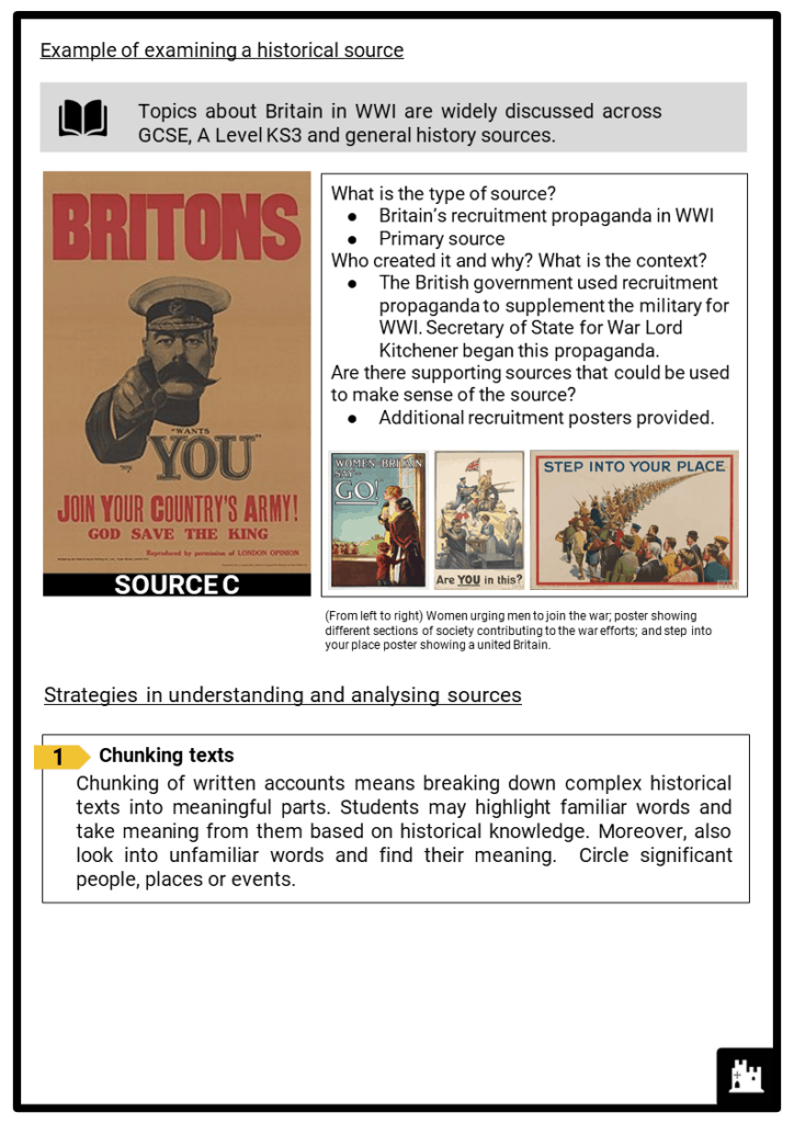 Key skill_History Sources and Your Own Knowledge Printout 2