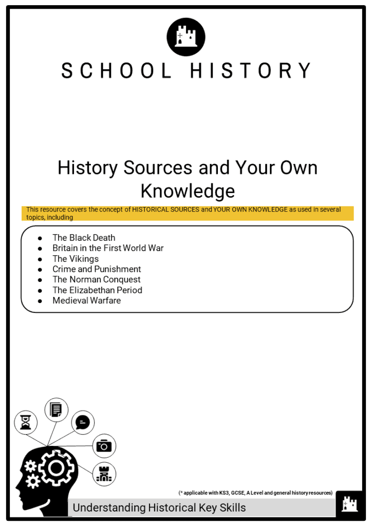 Key skill_History Sources and Your Own Knowledge Printout