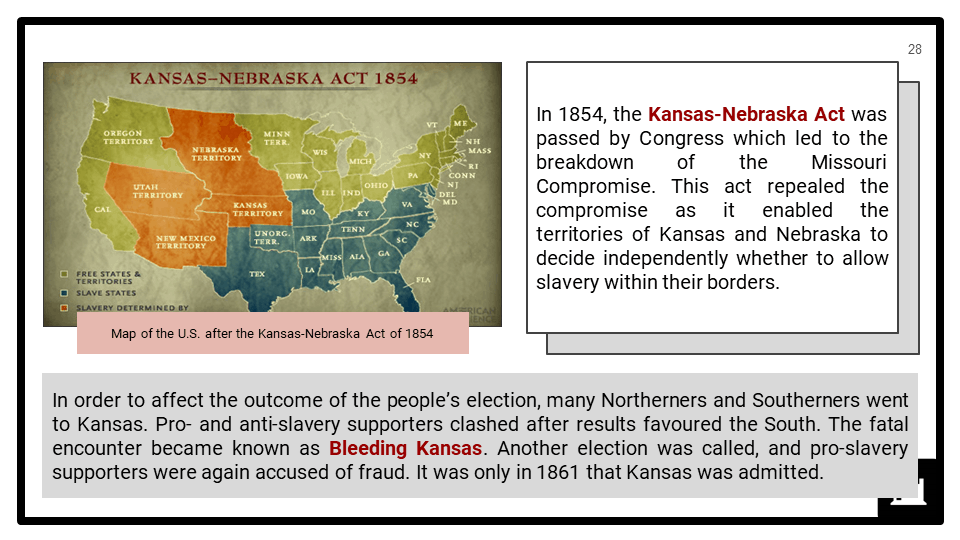 Origins of the American Civil War, c1845-1861 Presentation 4