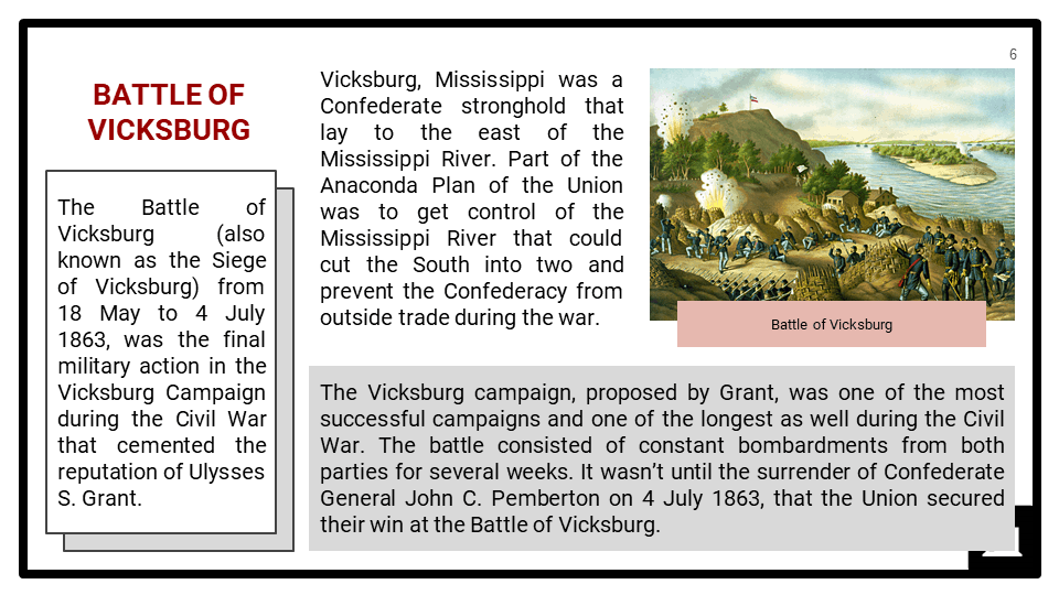 The American Civil War, 1861-1865 Presentation 3