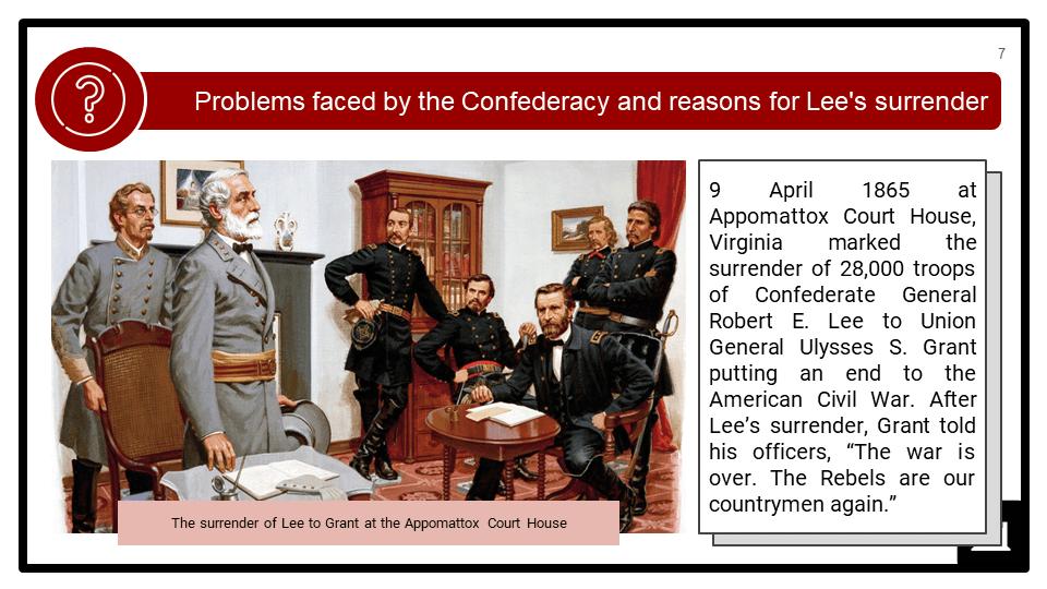 The American Civil War, 1861-1865 Presentation 4