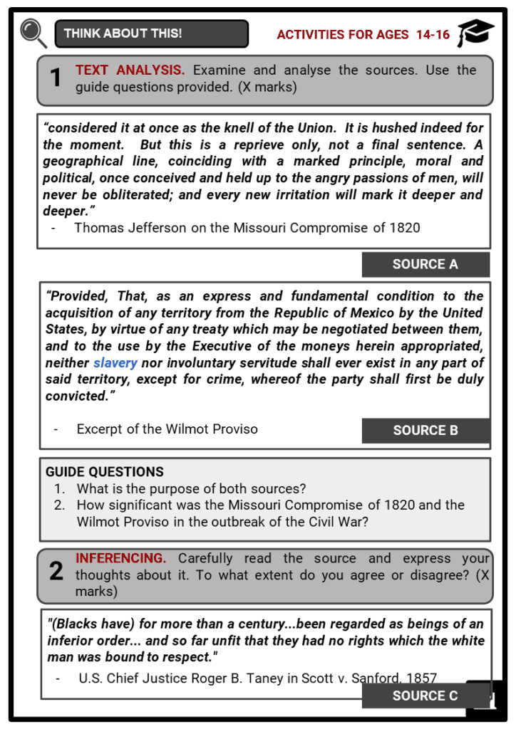The American Civil War Student Activities & Answer Guide 3
