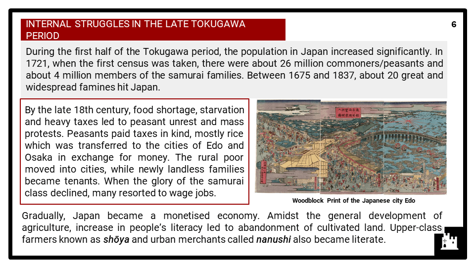The impact of foreign intrusion on Tokugawa Japan 1853-1868 Presentation 3