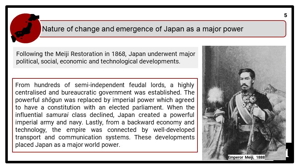 Westernisation and nationalism in Meiji Japan 1868-1912 Presentation 1