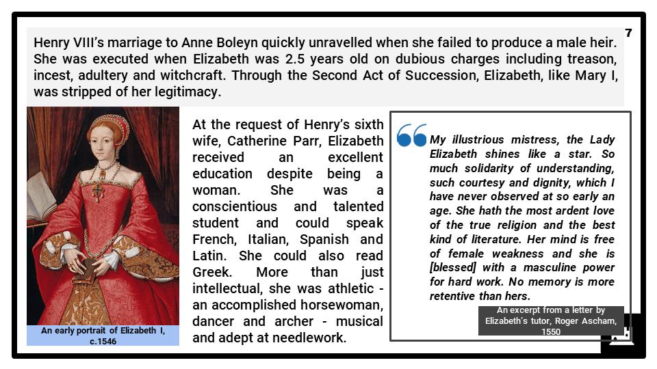 A Level Elizabethan England, 1558-1603 Presentation 1