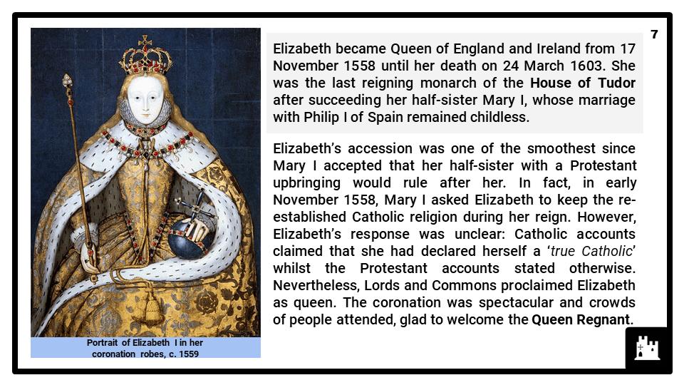 A Level Elizabethan England, 1558-1603 Presentation 2