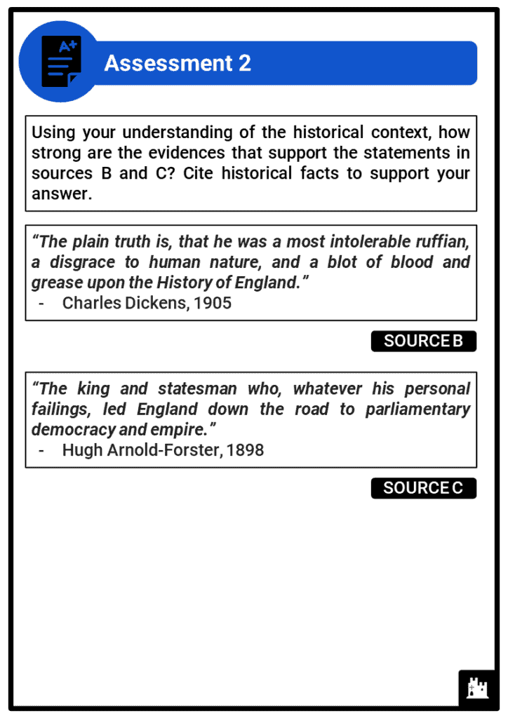A Level Henry VIII, 1509-1547 Assessment 2