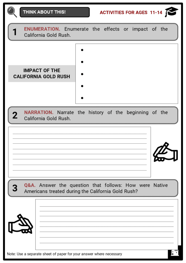 California Gold Rush Student Activities & Answer Guide 1