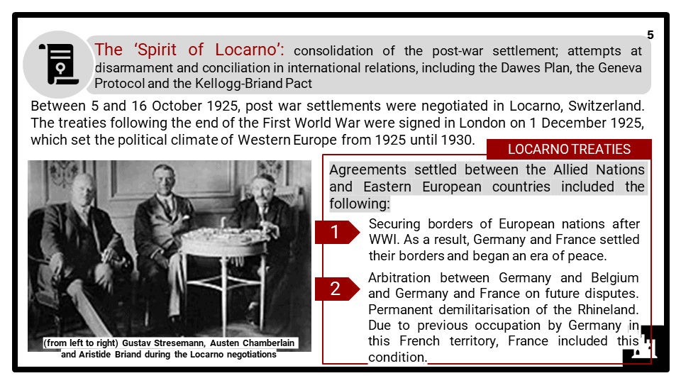 Causes and events leading to the Second World War 1923-1941 Presentation 1