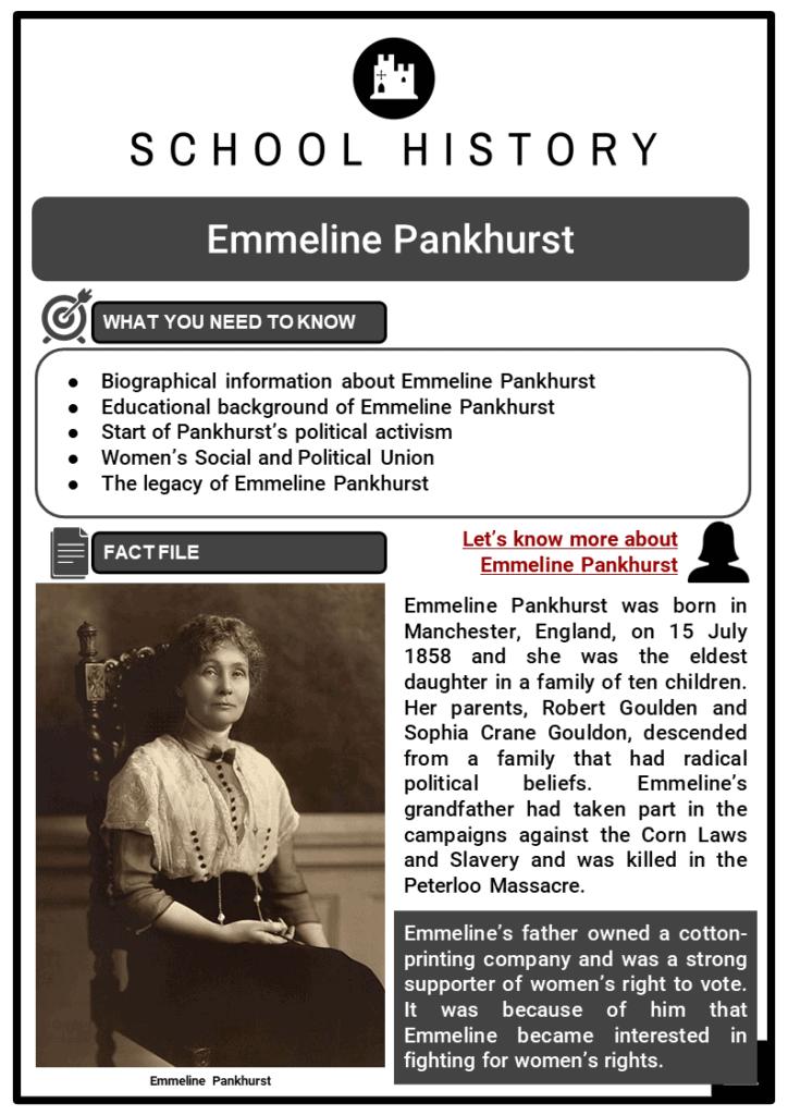 Emmeline Pankhurst Resource Collection 1