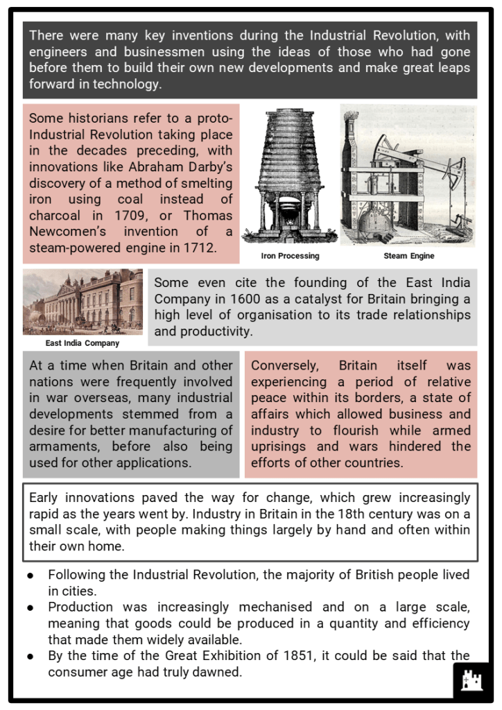 Industrial Revolution Timeline Resource Collection 2