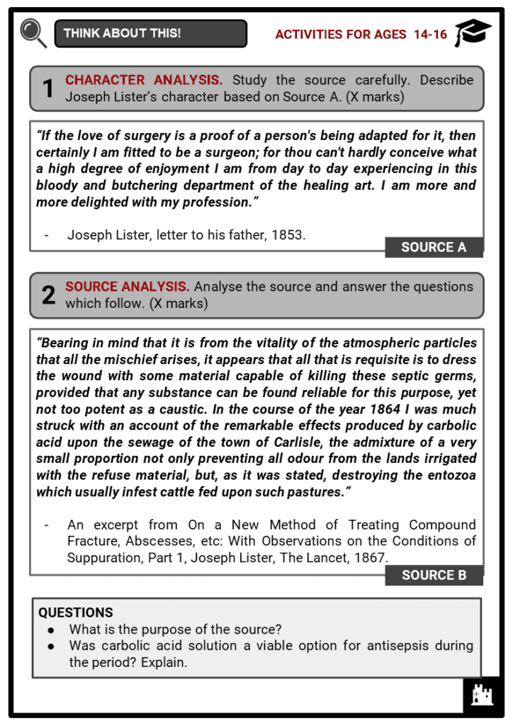 Joseph Lister Student Activities & Answer Guide 3