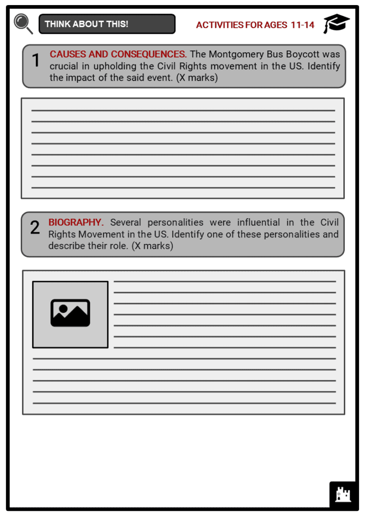 Montgomery Bus Boycott Student Activities & Answer Guide 1