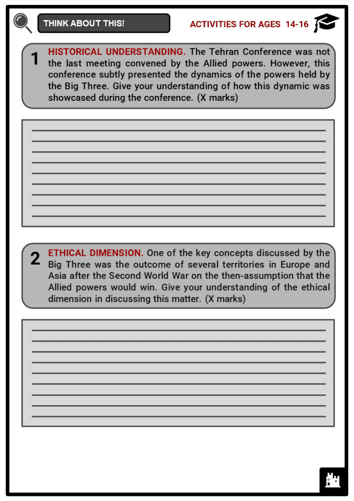 Tehran Conference Student Activities & Answer Guide 3