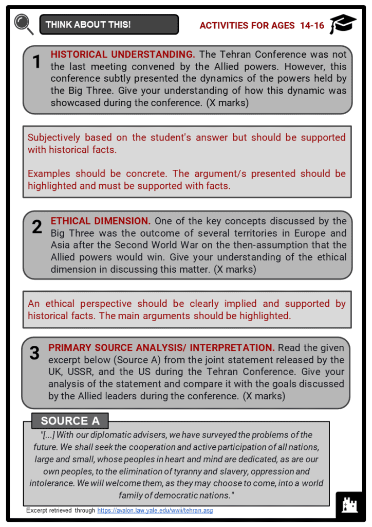 Tehran Conference Student Activities & Answer Guide 4