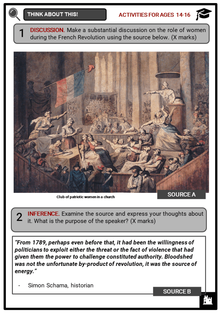 Timeline of the French Revolution Student Activities & Answer Guide 3