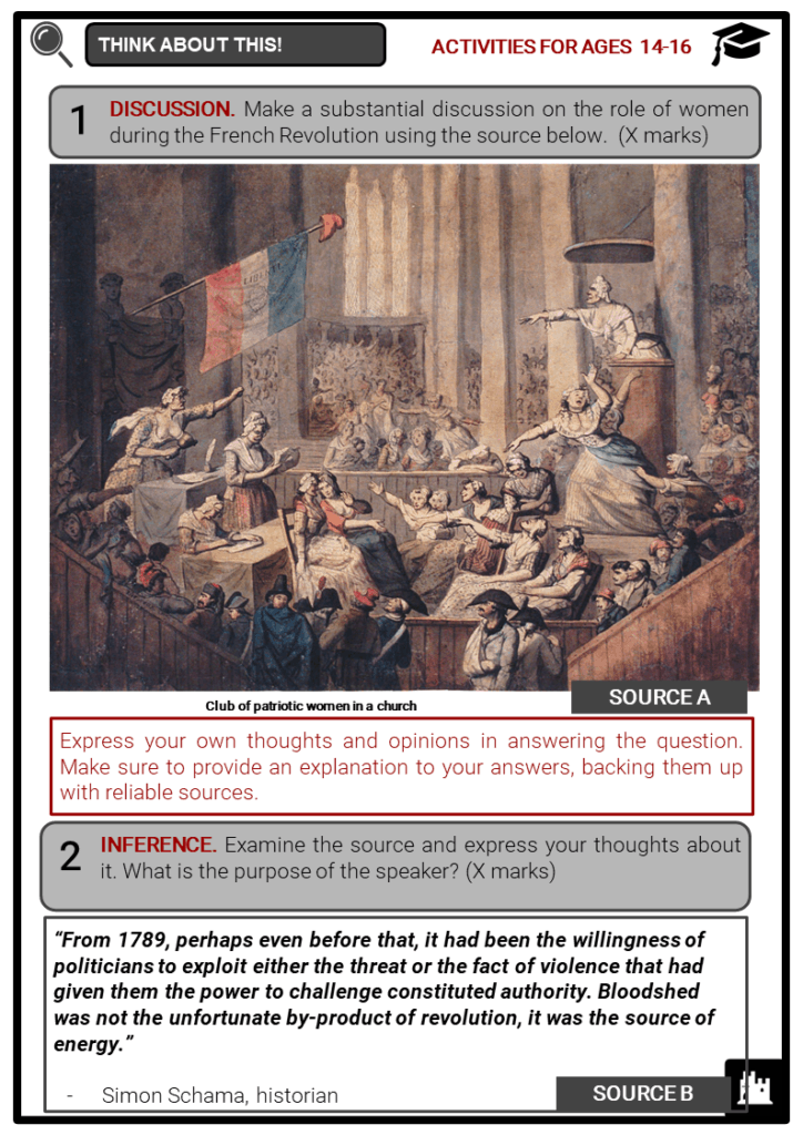 Timeline of the French Revolution Student Activities & Answer Guide 4
